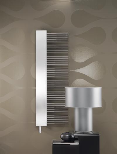 Zehnder Yucca Mirror Króm elektromos üzemmód - nappali ötlet, modern stílusban