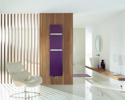 Zehnder Vitalo Bar Violet melegvizes üzemmód - fürdő / WC ötlet, modern stílusban