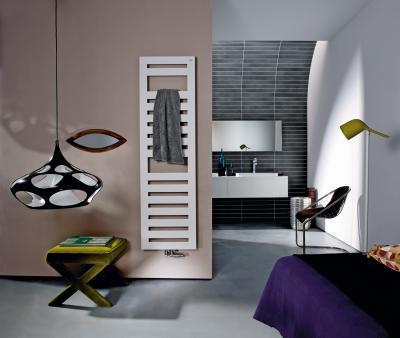 Zehnder Metropolitan Spa Grey White melegvizes üzemmód - fürdő / WC ötlet, modern stílusban
