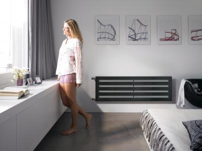 Zehnder Metropolitan vízszintes csöves elrendezésű szobai radiátor - háló ötlet, modern stílusban