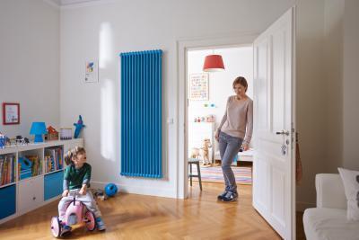 Zehnder Charleston szobai acél tagos csőradiátor - gyerekszoba ötlet, modern stílusban
