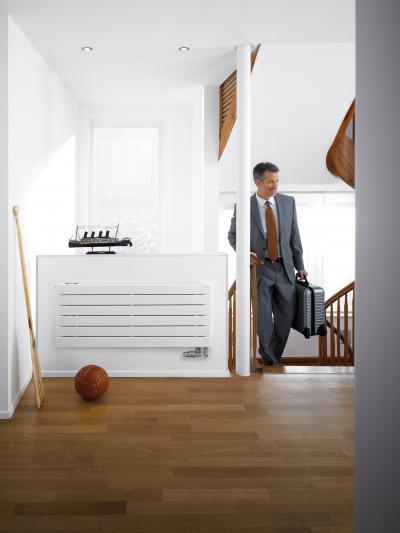 Zehnder Nova Neo szobai radiátor levegőszűrővel - előszoba ötlet, modern stílusban