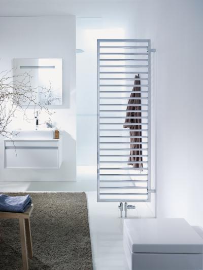 Zehnder Subway Króm térelválasztós kivitel melegvizes üzemmód - fürdő / WC ötlet, modern stílusban