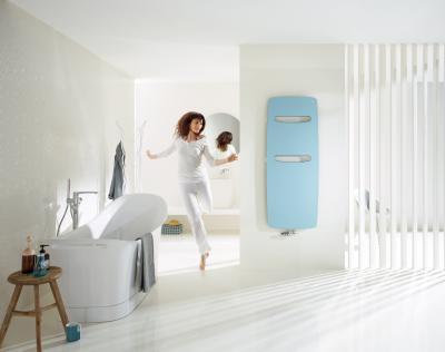 Zehnder Vitalo Spa Pacific Blue melegvizes üzemmód - fürdő / WC ötlet, modern stílusban