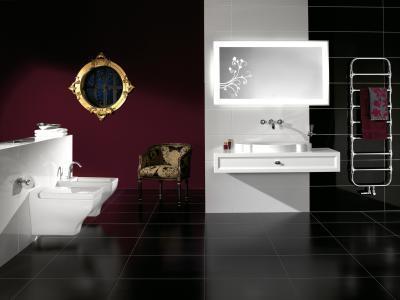Zehnder Nobis Króm melegvizes üzemmód - fürdő / WC ötlet, eklektikus stílusban