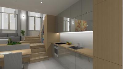 Egyszerű és elegáns konyha - konyha / étkező ötlet, modern stílusban