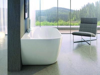 Elegáns fürdő szabadonálló káddal - fürdő / WC ötlet, modern stílusban