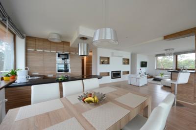 Egymáshoz hangolt burkolatok - nappali ötlet, modern stílusban