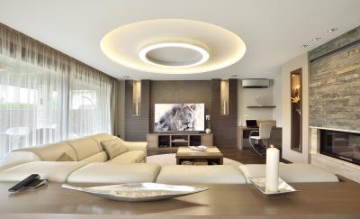 Hangulatos fények a nappaliban - nappali ötlet, modern stílusban