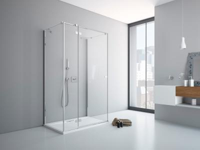 Fuenta New KDJ+S szögletes zuhanykabin - fürdő / WC ötlet, minimál stílusban
