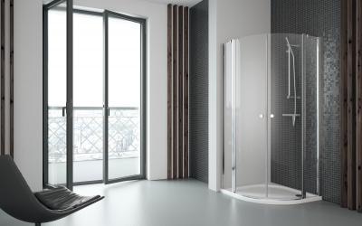 Eos II PDD íves zuhanykabin - fürdő / WC ötlet, modern stílusban