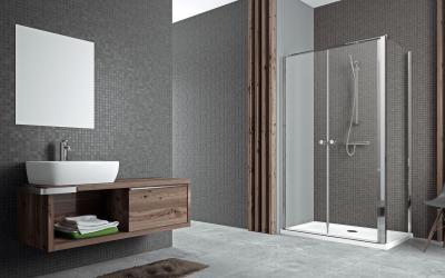 Eos II DWD+S szögletes zuhanykabin - fürdő / WC ötlet, modern stílusban