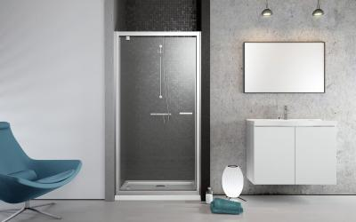 Twist DW zuhanyajtó - fürdő / WC ötlet, minimál stílusban