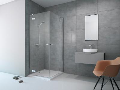 Fuenta New KDD szögletes zuhanykabin - fürdő / WC ötlet, minimál stílusban