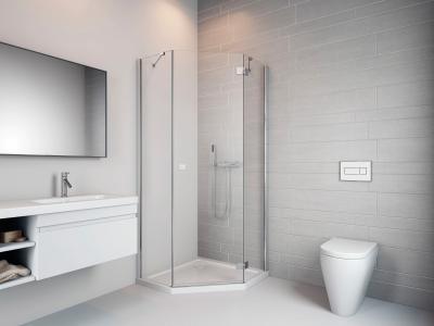 Essenza New PTJ szögletes zuhanykabin - fürdő / WC ötlet, modern stílusban