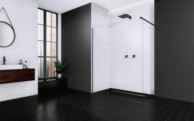 Modo New Black II zuhanyfal - fürdő / WC ötlet, minimál stílusban