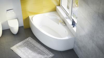 Daria aszimmetrikus kád - fürdő / WC ötlet, modern stílusban