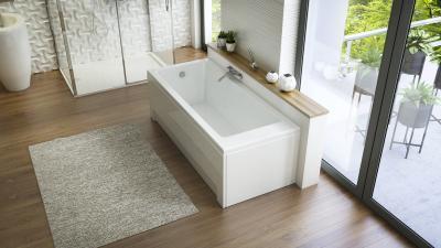 Nikita egyenes kád - fürdő / WC ötlet, modern stílusban