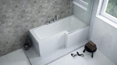 Linea aszimmetrikus kád - fürdő / WC ötlet, modern stílusban