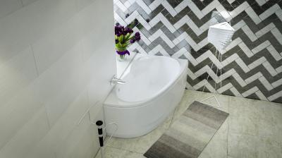 Liza aszimmetrikus kád - fürdő / WC ötlet, modern stílusban