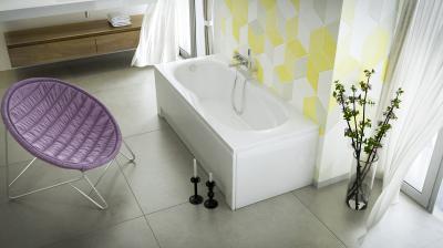 Klara egyenes kád - fürdő / WC ötlet, modern stílusban