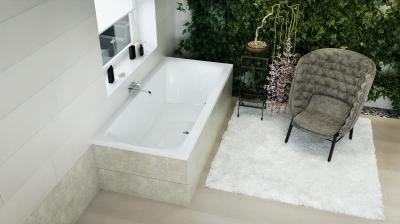 Helena egyenes kád - fürdő / WC ötlet, modern stílusban