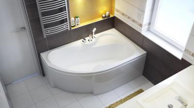 Azalia aszimmetrikus kád - fürdő / WC ötlet, modern stílusban