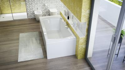 Avantgarde különleges kád - fürdő / WC ötlet, modern stílusban
