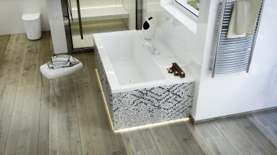 Coral I egyenes kád - fürdő / WC ötlet, modern stílusban