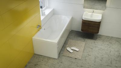 Sortiment egyenes kád - fürdő / WC ötlet, modern stílusban