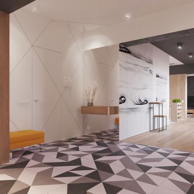 Látványos burkolat az előszobában - előszoba ötlet, modern stílusban