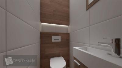 Készülő lakás látványterve - vécé helyiség - fürdő / WC ötlet, modern stílusban