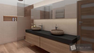 Natúr színvilág a fürdőben - fürdő / WC ötlet, modern stílusban