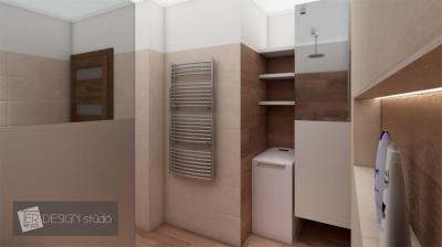 Natúr és bézs színek a fürdőben - fürdő / WC ötlet, modern stílusban