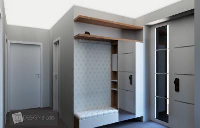 Ötletes előszoba fal - előszoba ötlet, modern stílusban
