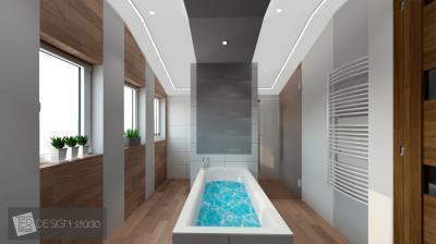 Meleg hatású burkolat a fürdőben - fürdő / WC ötlet, modern stílusban