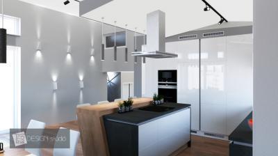 Különleges világítás a konyhában - konyha / étkező ötlet, modern stílusban
