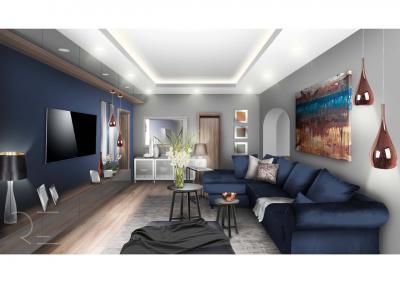 Kényelmes nappali - nappali ötlet, modern stílusban