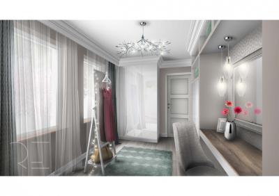 Pasztellek a hálószobában - háló ötlet, modern stílusban