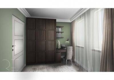 Dolgozósarok a szekrény mellett - belső továbbiak ötlet, modern stílusban