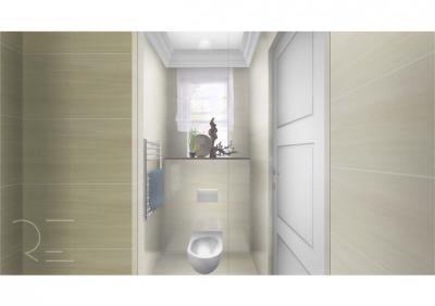 Vécé világos színekkel - fürdő / WC ötlet, modern stílusban