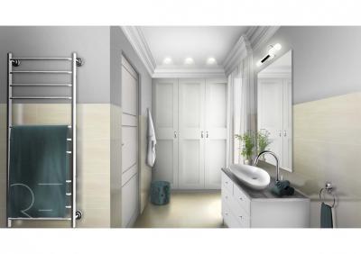 Világítás a fürdőszobában - fürdő / WC ötlet, modern stílusban