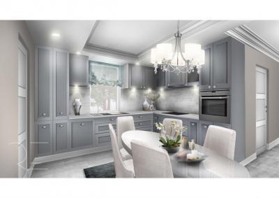 Klasszikus és modern stílus a konyhában - konyha / étkező ötlet, modern stílusban