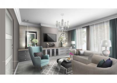 Klasszikus nappali kényelmes fotelekkel - nappali ötlet, klasszikus stílusban