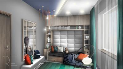 Kamasz gyerek szobája - gyerekszoba ötlet, modern stílusban