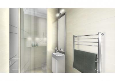 Mini fürdő zuhanykabinnal - fürdő / WC ötlet, modern stílusban
