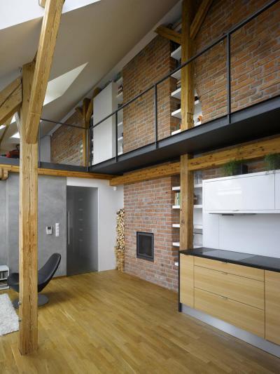 Galériázott tetőtérben - tetőtér ötlet, modern stílusban