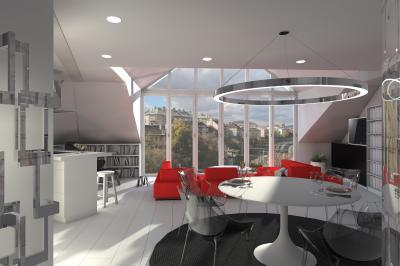 Tágas nappali sok természetes fénnyel - nappali ötlet, modern stílusban