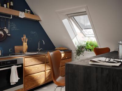 Felnyíló panoráma tetőtéri ablak - tetőtér ötlet, modern stílusban