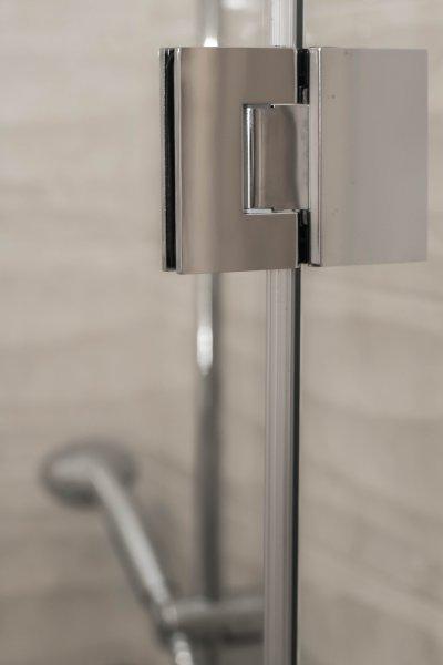 Szögletes fényeskróm szerelvény - fürdő / WC ötlet, modern stílusban